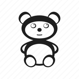 bear, childhood, children's, kids, teddy bear, toy icon