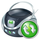 boombox, refresh icon