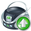 boombox, up icon