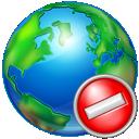 cancel, world icon