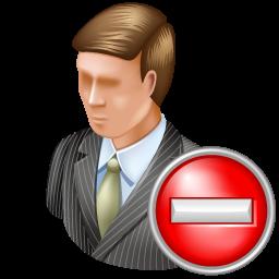 administrator, delete icon