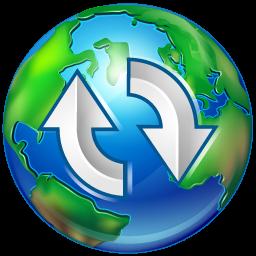 upload, world icon