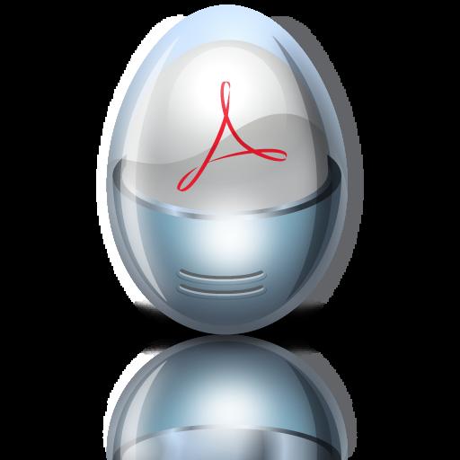 acrobat, adobe, egg icon