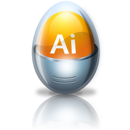 adobe, egg, illustrator icon