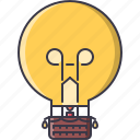 balloon, basket, bulb, business, idea, light, startup icon