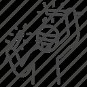 cheer, fan, fan club, light stick, ota icon