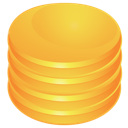 database, orange icon