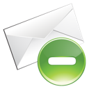delete, email, green icon