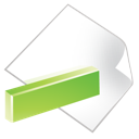 document, green, minus icon