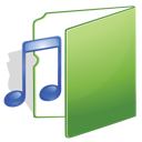 folder, green, music icon