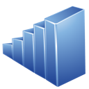 blue, graph icon