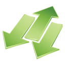 arrows, green icon