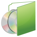 cds, folder, green icon