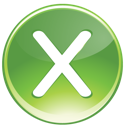green, multiply icon