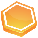 area, orange icon
