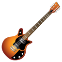 guitar, orange icon