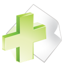 add, green, paper icon