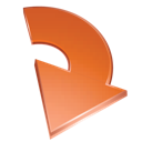 arrow, red icon