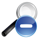 blue, minus, search icon