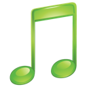 green, itunes, music, sound icon