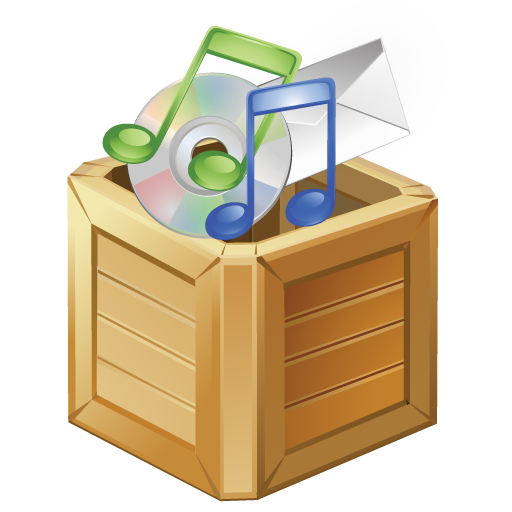 apps, box, music icon