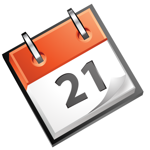 calendar, red icon