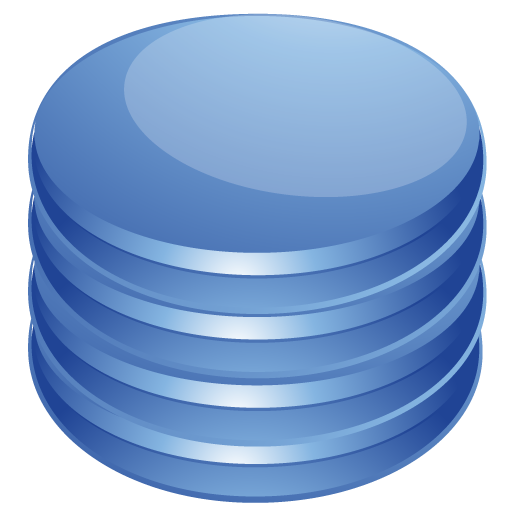 blue, database icon