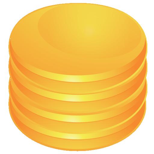 database, orange icon