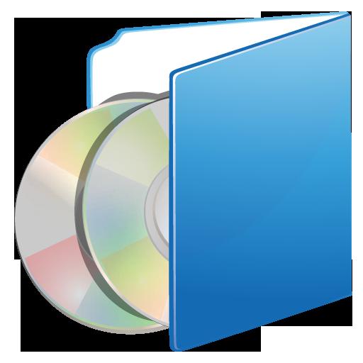 cds, folder icon