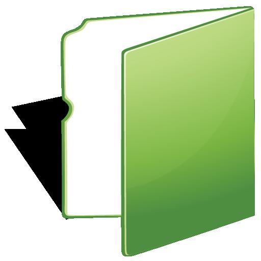 Folder, green icon | Icon search engine