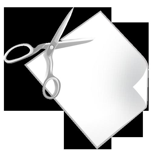 paper, scissors icon