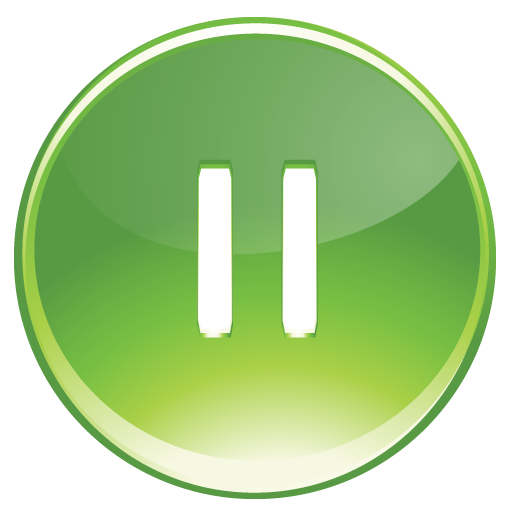 Green, pause icon