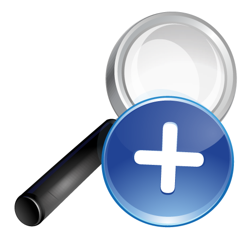 blue, plus, search icon