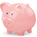 cash, money, pig, piggy bank, savings icon
