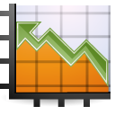 chart, graph, stock icon