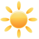weather, 24, sun icon