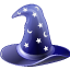 hat, magic, wizard icon