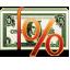 cash, money, percentage, rent icon