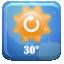 21, button, weather icon