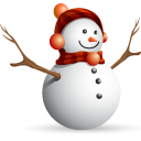 christmas, snow man icon