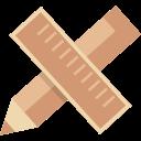design, pen, rule icon