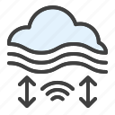 microclimate, weather, cloud, working conditions, fog icon