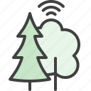 fire safety, forestry, smart, forest, trees icon