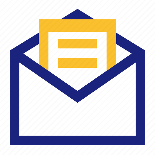 business, file, message, office, open icon