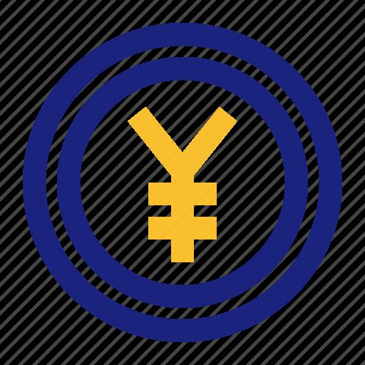 business, coin, money, office, yen, yuan icon