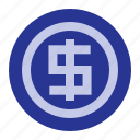 business, coin, dollar, office icon