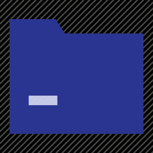 business, folder, minus, office icon