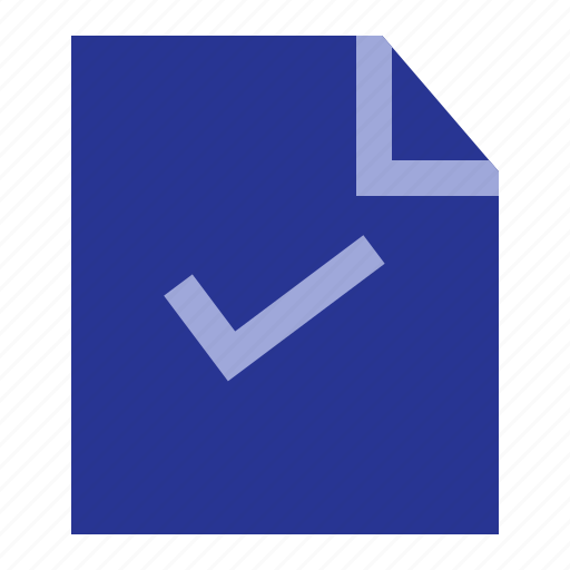 business, file, office, tick icon