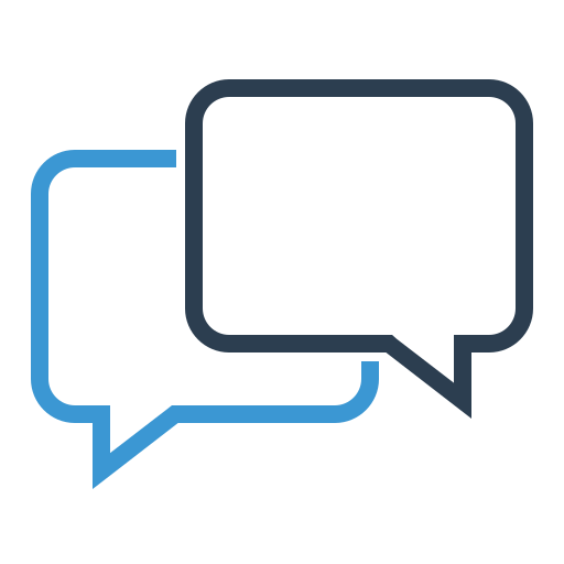chat, communication, conversation, dialogue, help desk, message bubbles, online support icon