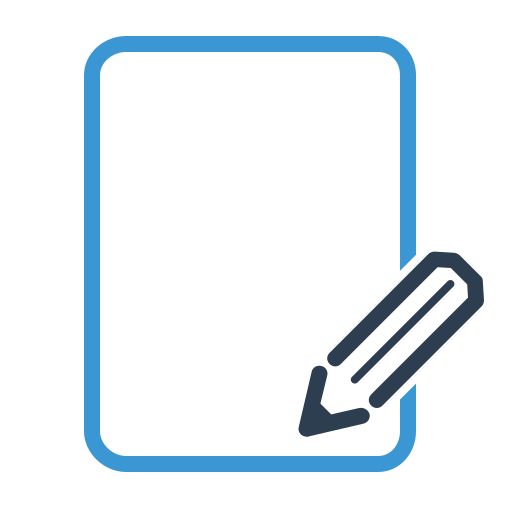 article, compose, document, empty, page, text, write icon